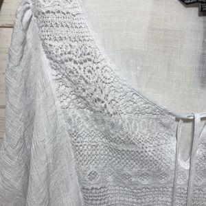 Unique Spectrum Tops - Unique Spectrum Crochet Tassel Boho Peasant Top 3X